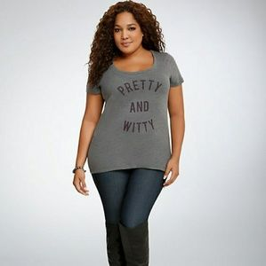 Torrid Pretty and Witty Scoopneck tee